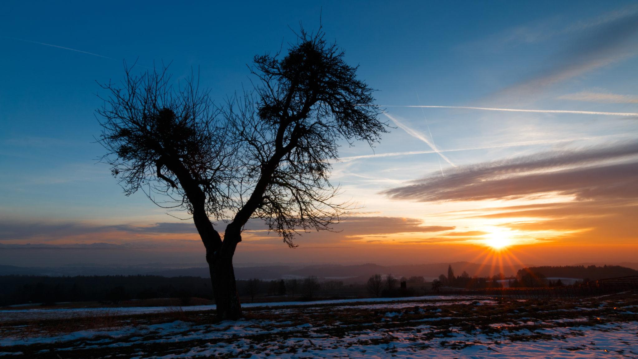 Sonnenuntergang in Liggeringen
