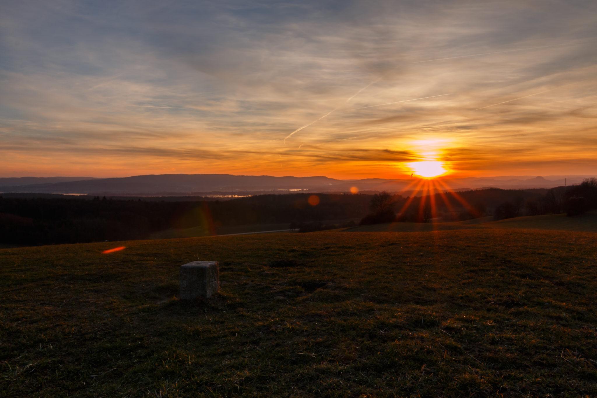 Sonnenuntergang am Schneckenberg