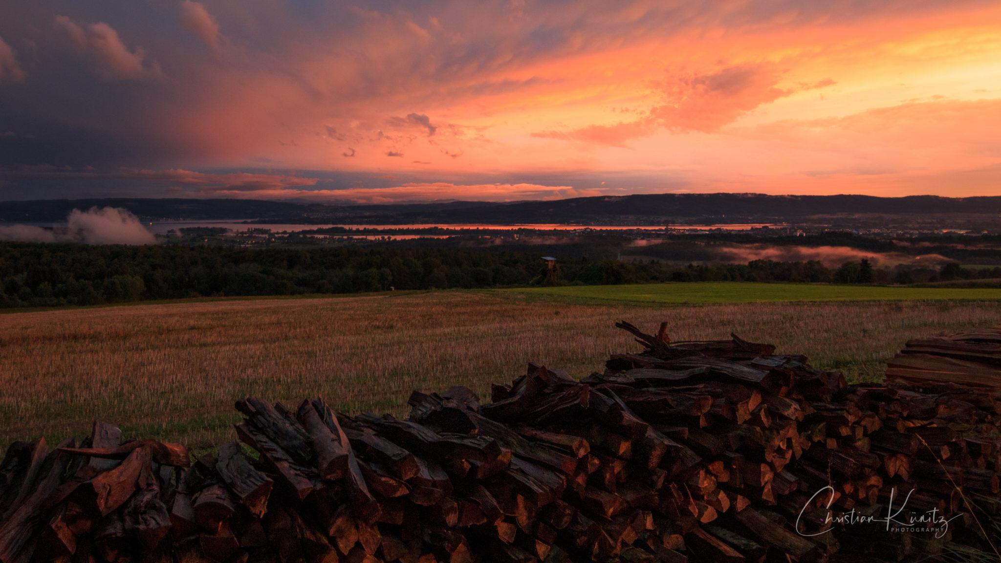 Abendhimmel über Radolfzell II