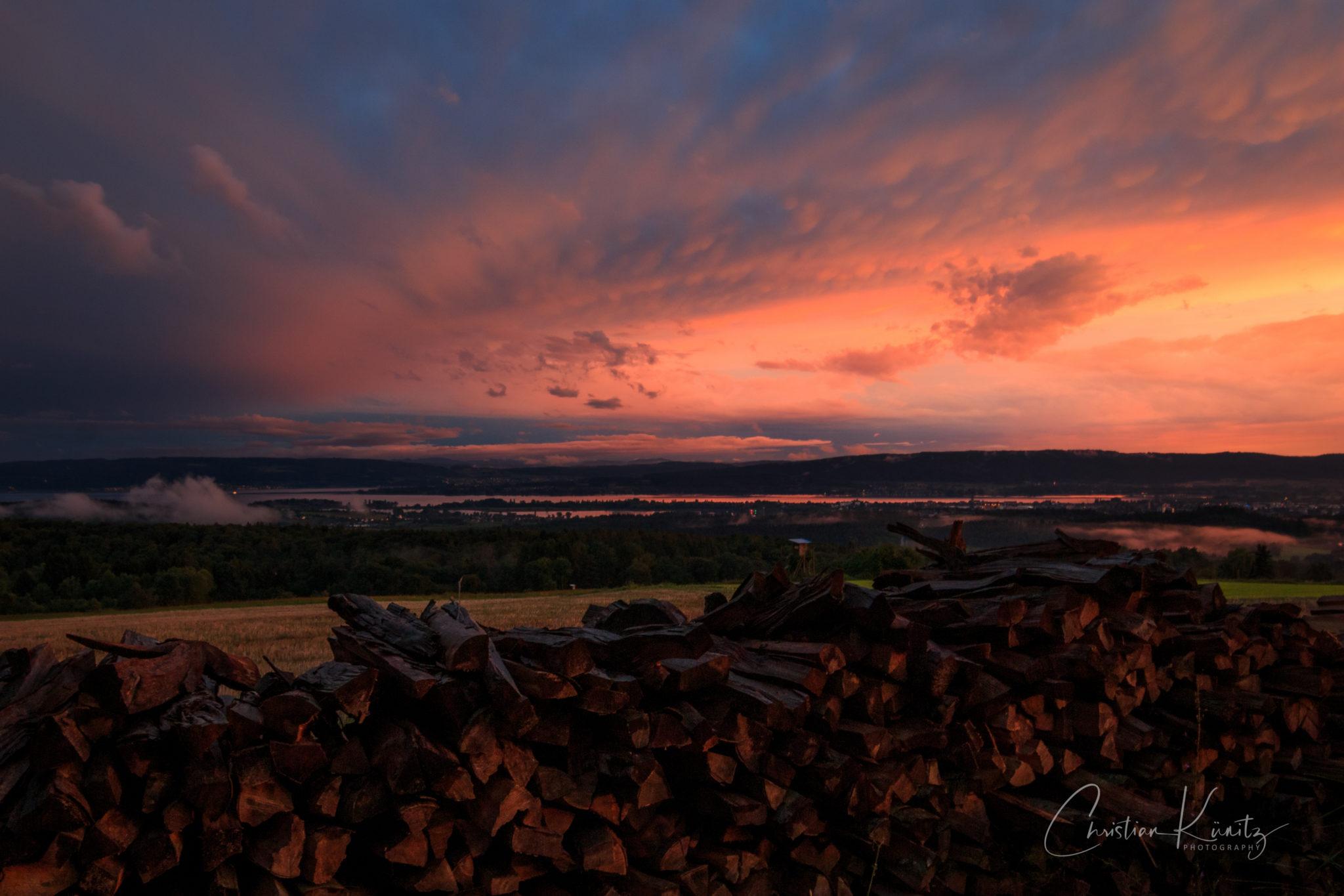 Abendhimmel über Radolfzell I