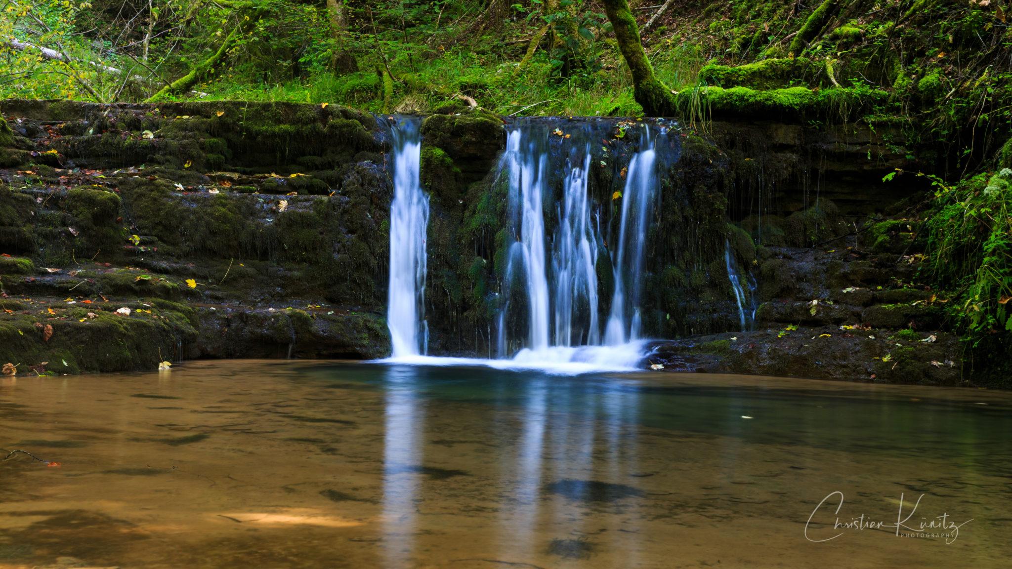 Gauchachschlucht, kleiner Wasserfall II