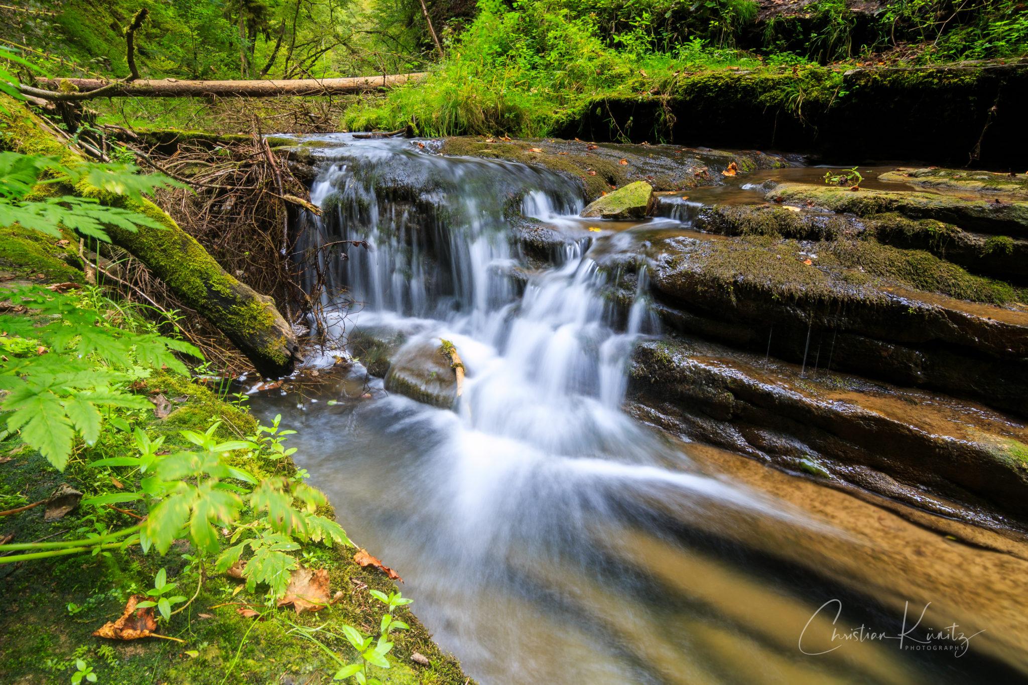 Gauchachschlucht, Wasserfall
